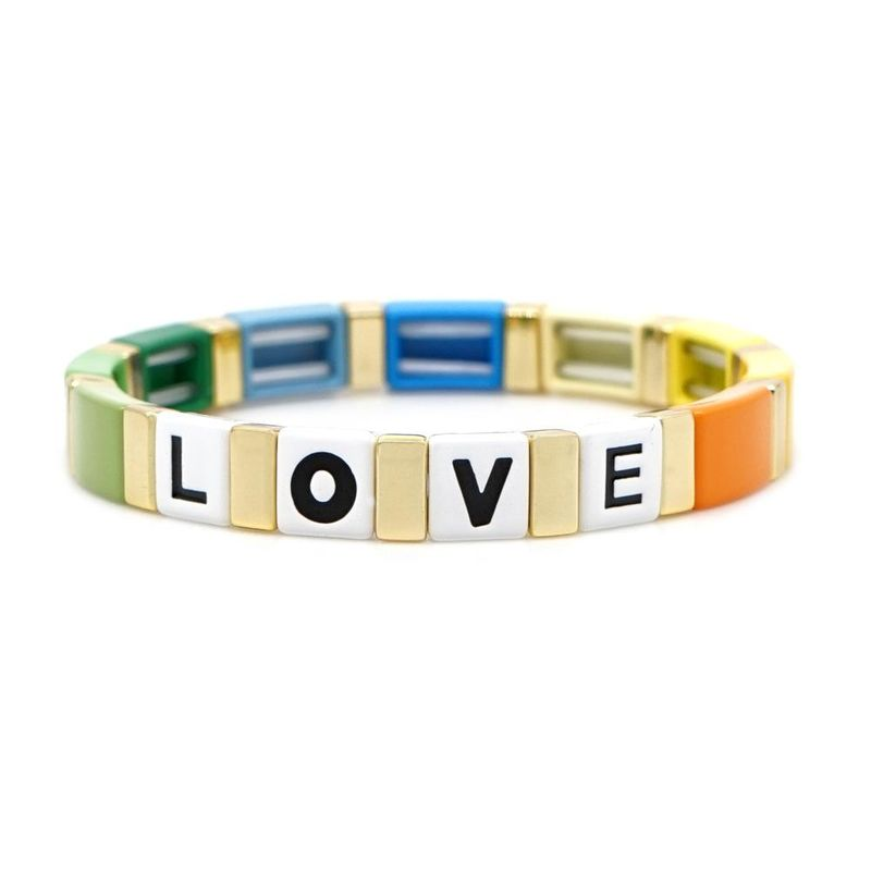 Fashion letters LOVE love bohemian zinc alloy paint men and women bracelets jewelry NHGW177200