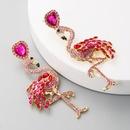 Hot Flamingo Earrings Women39s Long Inlay Rhinestone Women39s Stud Earrings Vintage Alloy Earrings NHLN177058