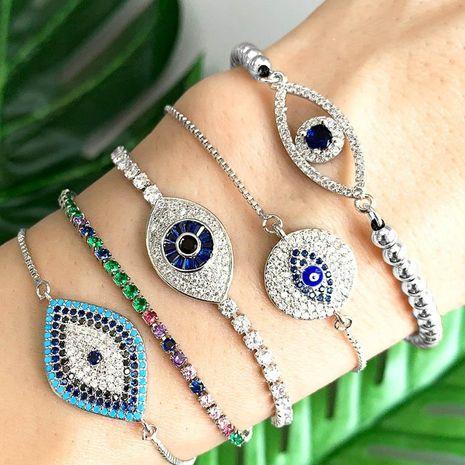 Bracelet Devil's Eye Eye Full Diamond Adjustable Bracelet NHAS177639's discount tags