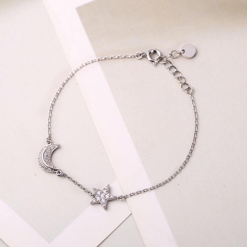 Star Moon Diamond Bracelet Female Personality Fashion Niche Design Jewelry NHQD177522
