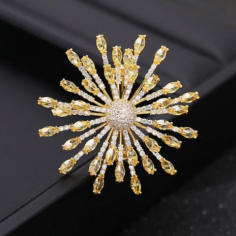 Micro-inlaid zircon snowflake brooch brooch luxury clothing accessories NHDO177673's discount tags