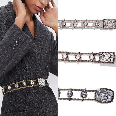 Alliage diamant perle ceinture accessoires ceinture sauvage mode ceinture chaîne NHJQ177469's discount tags
