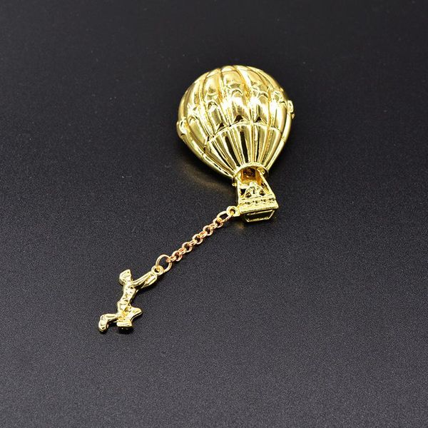 Retro exaggerated balloon fringed chain brooch knotted bow brooch NHNT177569