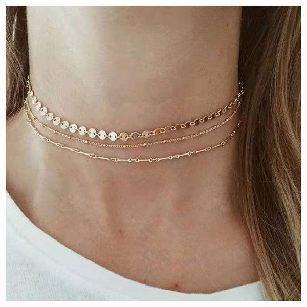 Fashion multi-level items mix and match combination ladies necklace women NHCT177379