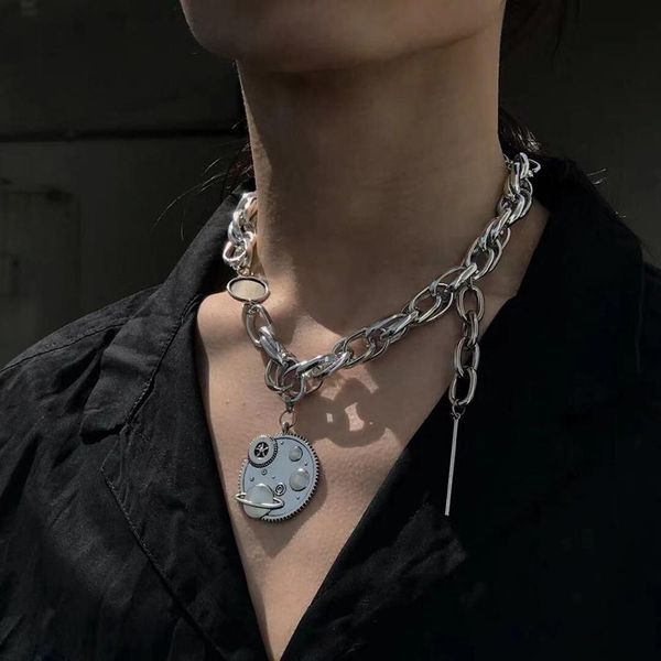 Pendant Necklace Fashion Punk Style Personality Necklace Metal Texture Earth NHMD177683