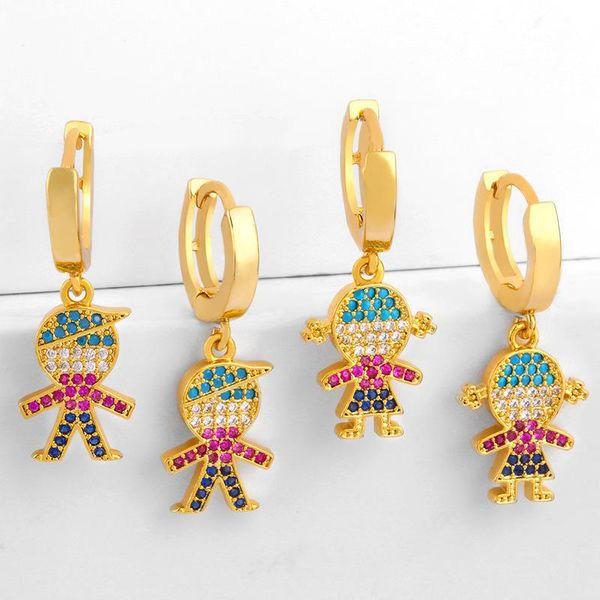 Couple earrings boy girl earrings fashion diamond earrings NHAS177634
