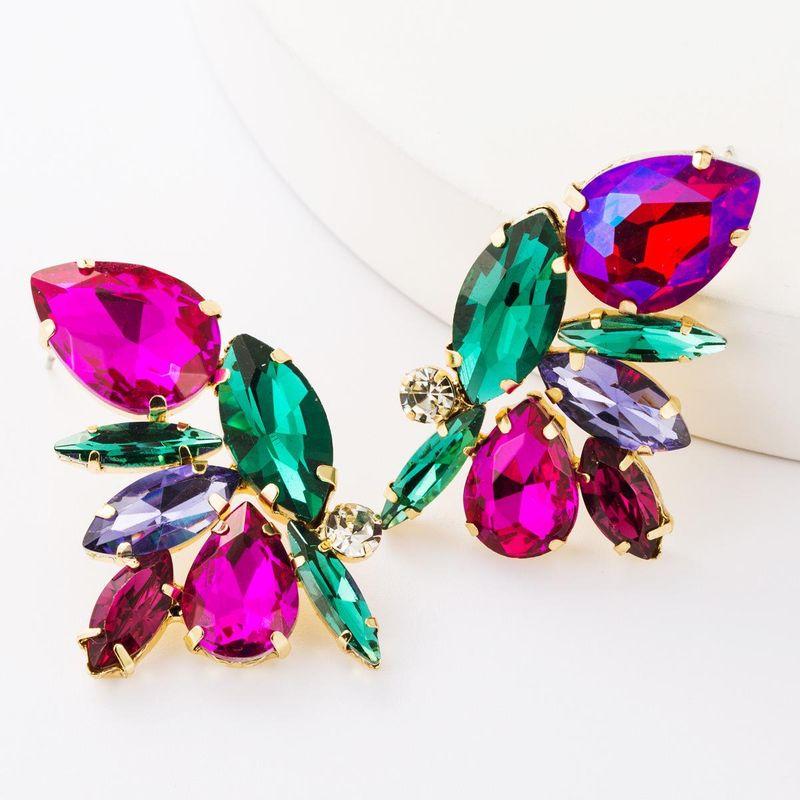 Alloy diamond glass drill full diamond earrings female fashion temperament earrings earrings NHJE177426