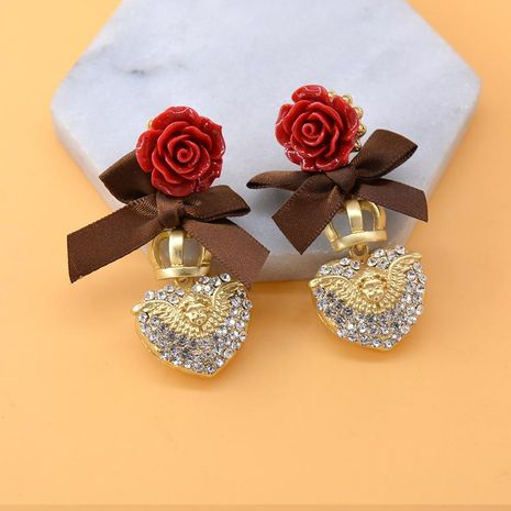 Earrings female exaggerated metal ball flower earrings vintage baroque cross NHNT177554's discount tags