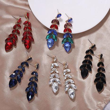 Pendientes de cristal de diamante de aleación Pendientes largos de lujo NHJQ177457's discount tags