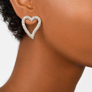Pendientes de corazón de diamantes pendientes de metal accesorios simples para el oído de moda NHJQ177472's discount tags