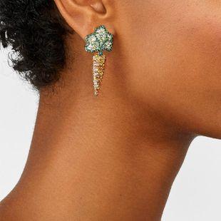 Pendientes de zanahoria de diamantes de aleación pendientes creativos accesorios simples de oreja salvaje NHJQ177473's discount tags