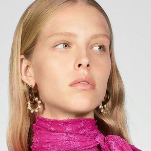 Pendientes de placa de perlas de aleación de moda retro pendientes de metal pesado accesorios accesorios de joyería de temperamento NHJQ177477's discount tags