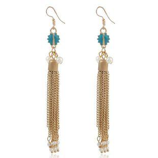 Nuevo collar de borla con tachuelas de diamantes pendientes de personalidad salvaje pendientes de moda NHVA177610's discount tags