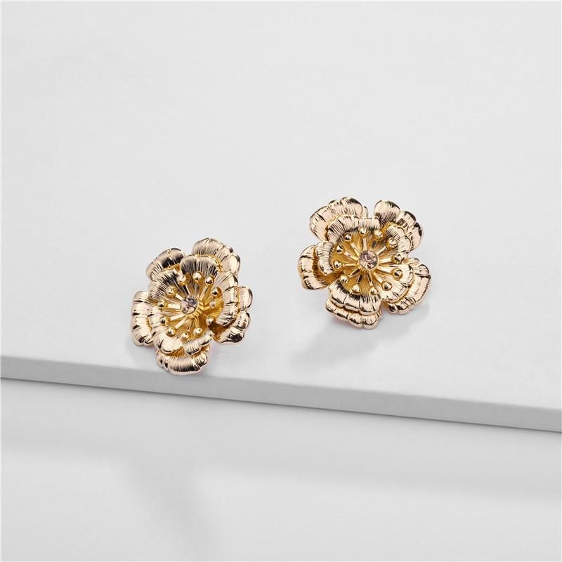 Jewelry earrings jewelry alloy three-layer flower three-dimensional female earrings NHLU177618
