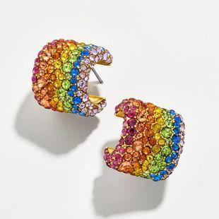 Pendientes joyas piezas de cobre color del arco iris piedra preciosa diamante 925 aguja de plata pendientes femeninos NHLU177626's discount tags