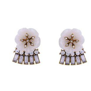 Shell petal flower pendant earrings NHQD177513's discount tags