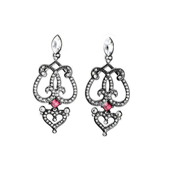 Vintage elegant cool black ladies earrings NHQD177515
