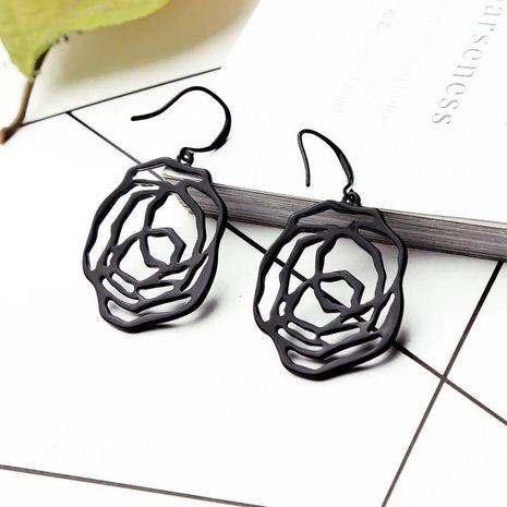Aretes para mujer de flores huecas de aleación chapadas pendientes largos femeninos de sección larga de moda NHQD177519's discount tags