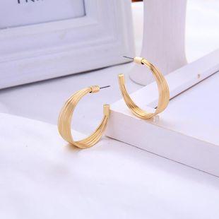Aretes para mujer de nicho simples Pendientes de botón semicirculares geométricos salvajes de moda Pendientes nuevos NHQD177521's discount tags