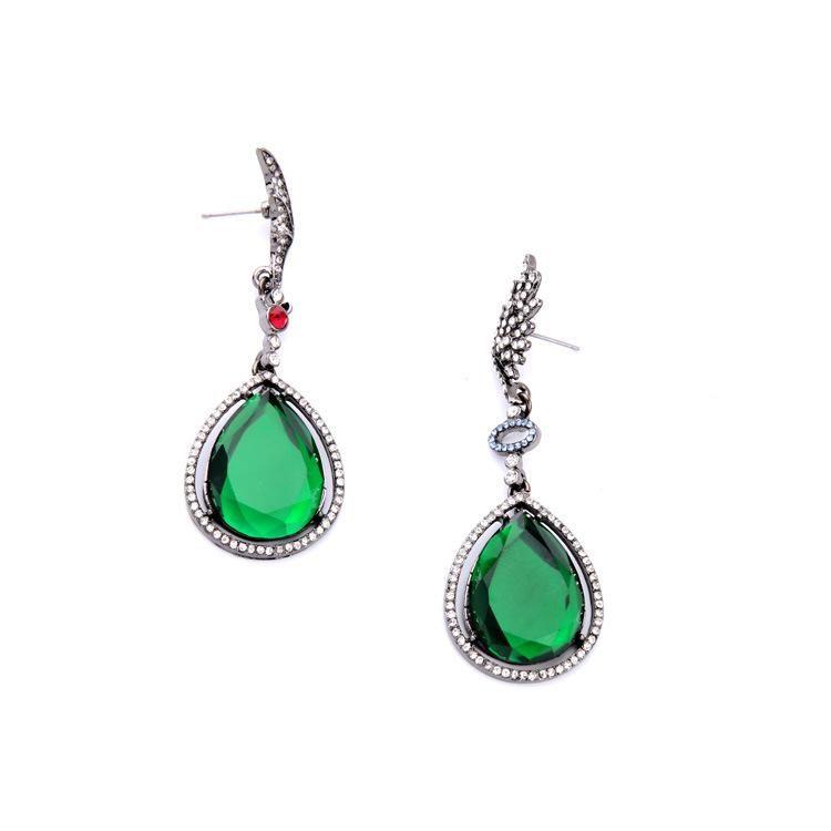 Alloy wild large drop pendant female earrings NHQD177534