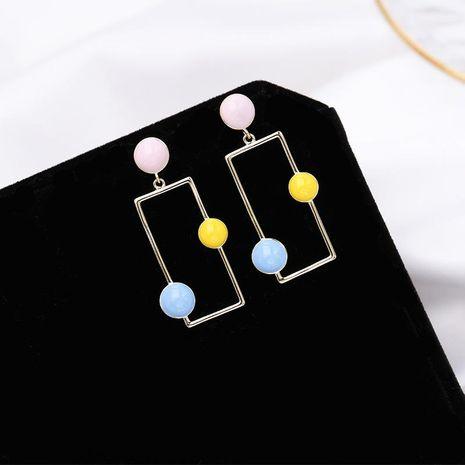 Aretes para mujer con textura simple geométrico gota pintada al óleo  NHDO177660's discount tags