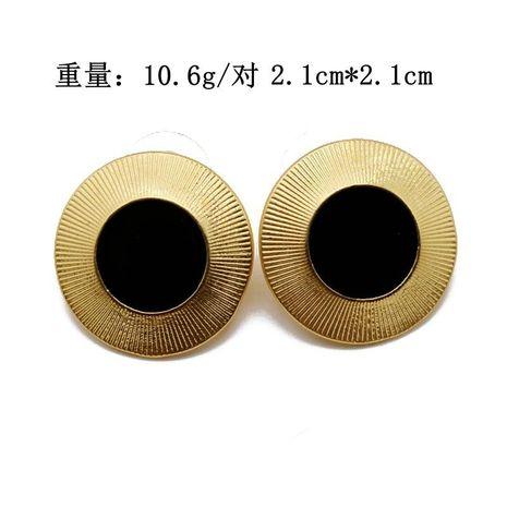Clip de oreja Aretes para mujer redondos negros clips de oreja hilo de oro mate lado redondo 925 pendientes de plata con aguja NHOM177573's discount tags