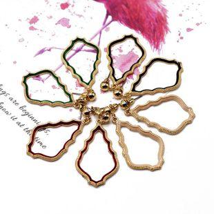 Aretes para mujer colgantes huecos simples en forma de gota aretes color oro aretes NHOM177581's discount tags