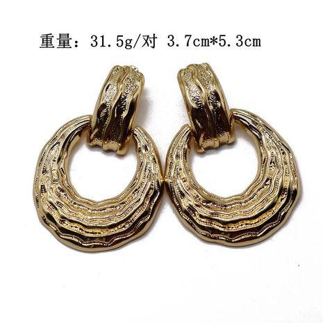Aretes para mujer de metal exagerados pendientes de anillo hueco pendientes pendientes de personalidad de moda dorada NHOM177589's discount tags