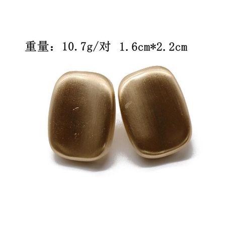 Aretes para mujer curvos cuadrados simples pendientes de moda oro mate plata mate NHOM177592's discount tags