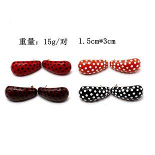 Aretes para mujer de colores puntos de colores pendientes de aceite  pendientes de moda negro y rojo NHOM177593's discount tags