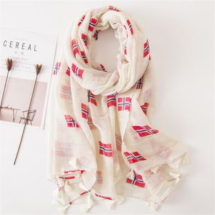 Primavera y verano bufanda de seda estampado de pañuelo de mujer estampado protector solar NHGD177973's discount tags
