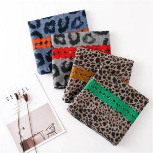 2018 otoño nueva moda creativa sexy gran estampado de leopardo bufanda mujer color dot hit color bufanda NHGD177930's discount tags