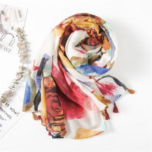 Wholesale Trend Mayorista de Moda Bufanda de algodón y lino de estilo abstracto, sección larga de otoño e invierno femenino, chal aumentado NHGD177937's discount tags