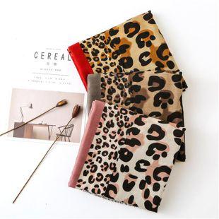 Bufanda de leopardo de color de contraste hembra primavera y otoño algodón y lino bufanda cálida chal grande Mayoreo de Moda NHGD177939's discount tags