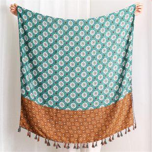 Bufanda de seda femenina otoño e invierno nueva bufanda larga de algodón bufanda tres trazos de algodón de loto bufanda delgada invierno femenino NHGD177953's discount tags