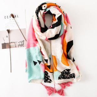 Primavera y verano bufandas de algodón y lino color femenino a juego aire acondicionado chal protector solar chal toalla de playa femenina NHGD177972's discount tags