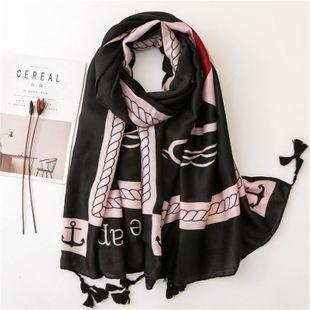 Nueva bufanda femenina viento marino negro rojo algodón borla vela playa chal bufanda variedad NHGD177984's discount tags