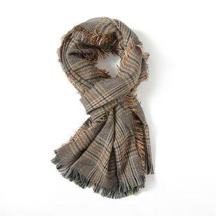 2017 otoño e invierno nueva cachemira de imitación Yang Mi con la bufanda a cuadros cálido chal femenino jacquard a cuadros de cachemira NHGD177979's discount tags