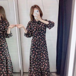 Vestido de manga larga con estampado de flores de invierno 2019 al por mayor de moda NHAM177701's discount tags