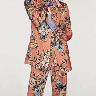 Nuevo traje pequeño impreso chaqueta de traje de mujer NHAM177715's discount tags
