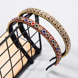 Versión coreana de la diadema importada de diamantes de imitación de mujer super flash temperamento simple salvaje Europa y Estados Unidos accesorios de cabello con diadema de aleación de fiesta NHLN177817's discount tags