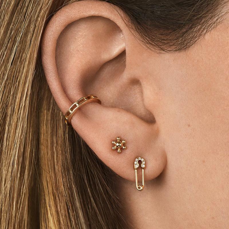 Jewelry earrings jewelry copper accessories gem ear clips three sets of new ear bone clip NHLU177633