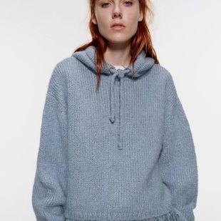 Suéter de mujer con costuras de invierno NHAM177717's discount tags