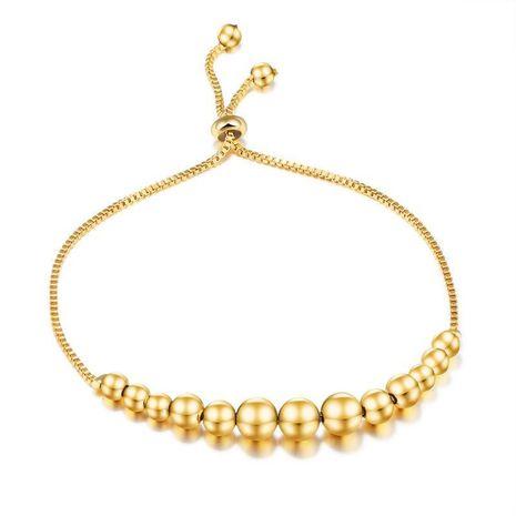 Tendance en gros Nouveau classique rond perle cuivre plaqué or modèles féminins perles rotatives dames bracelet réglable NHOP178174's discount tags