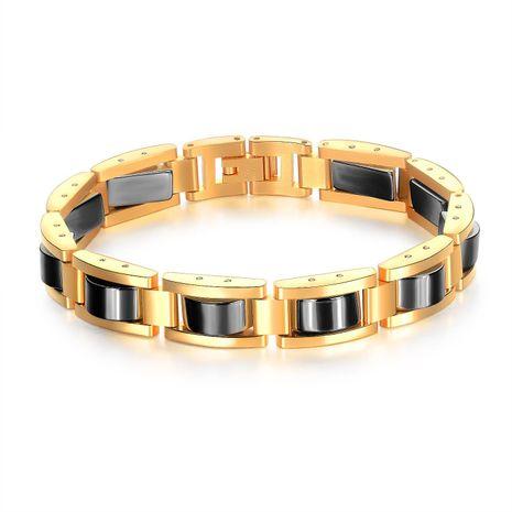 Mode marée en acier inoxydable santé aimant noir bracelet en gros mode NHOP178152's discount tags