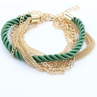 Wholesale Fashion hand-woven bracelet jewelry multi-layer leather rope twist bracelet NHDP178282's discount tags