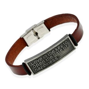Leather jewelry wholesale couple leather bracelet NHPK178105's discount tags