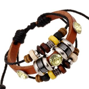 New bracelet beaded leather bracelet personalized jewelry lovers jewelry NHPK178114's discount tags
