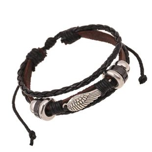 Bracelet Wings Beaded Leather Bracelet Wholesale Vintage Leather Bracelet NHPK178113's discount tags