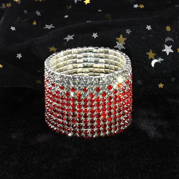 Imported Rhinestone Stretch Bracelet Bracelet Bridal Bracelet Korean Super Wide Flash Diamond Elastic Crystal Bracelet NHIM178075
